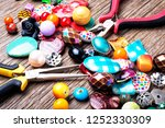 jewelry making and beading... | Shutterstock . vector #1252330309