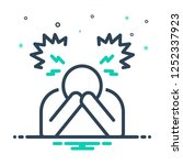 colorful icon for despair   Shutterstock .eps vector #1252337923