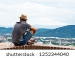 a young guy in comfortable... | Shutterstock . vector #1252344040