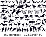 animals collection silhouette | Shutterstock .eps vector #1252345450