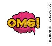 omg comic words in speech...   Shutterstock .eps vector #1252347730