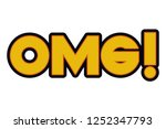 omg comic words isolated icon   Shutterstock .eps vector #1252347793