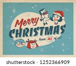 vintage style illustration of a ... | Shutterstock . vector #1252366909