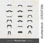 mustache set   set of high... | Shutterstock .eps vector #125237186