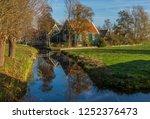zaanse schans  netherlands  ... | Shutterstock . vector #1252376473