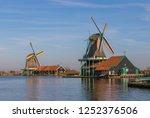 zaanse schans  netherlands  ... | Shutterstock . vector #1252376506
