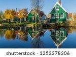 zaanse schans  netherlands  ... | Shutterstock . vector #1252378306