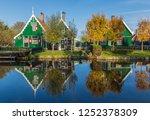 zaanse schans  netherlands  ... | Shutterstock . vector #1252378309
