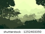 2d illustration. trees in the... | Shutterstock . vector #1252403350