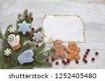 gingerbread man with christmas... | Shutterstock . vector #1252405480
