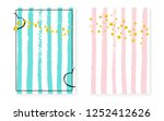bridal shower card with dots... | Shutterstock .eps vector #1252412626