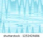 light blue wavy sea style... | Shutterstock . vector #1252424686