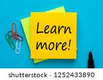 learn more written on note with ... | Shutterstock . vector #1252433890