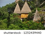 view of wooden houses with...   Shutterstock . vector #1252439440