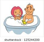 cartoon  family  relationships... | Shutterstock .eps vector #125244200