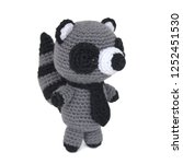 Isolated Crochet Toy Gray...