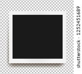 realistic square frame with... | Shutterstock .eps vector #1252451689