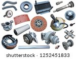 auto spare parts car on the... | Shutterstock . vector #1252451833