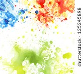 watercolor blot background ... | Shutterstock . vector #125245898