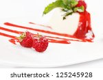 souffle with raspberry | Shutterstock . vector #125245928