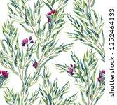 seamless pattern of watercolor... | Shutterstock . vector #1252464133