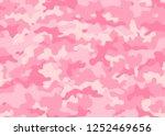 girly camo. pink texture... | Shutterstock .eps vector #1252469656