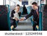 businesswoman showing her... | Shutterstock . vector #125249546