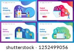 set of modern landing page... | Shutterstock .eps vector #1252499056
