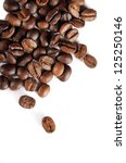 brown coffee beans isolated on... | Shutterstock . vector #125250146