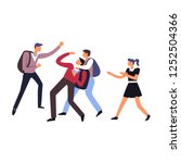 violence and harassment in... | Shutterstock .eps vector #1252504366