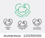 no animal testing logo  animal... | Shutterstock .eps vector #1252505350