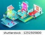 vector isometric composition... | Shutterstock .eps vector #1252505800