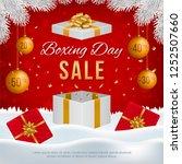 vector boxing day sale banner... | Shutterstock .eps vector #1252507660