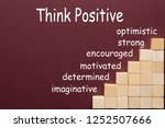 think positive diagram with... | Shutterstock . vector #1252507666
