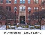 Stock photo harvard university historic building in cambridge at massachusetts 1252513540