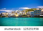 elounda city  crete  greece | Shutterstock . vector #125251958