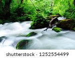 "tourist attraction ""oirase... | Shutterstock . vector #1252554499"