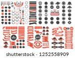 vintage retro vector logo for... | Shutterstock .eps vector #1252558909