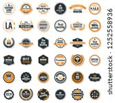 vintage retro vector logo for... | Shutterstock .eps vector #1252558936