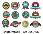 vintage retro vector logo for... | Shutterstock .eps vector #1252558939