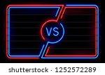 versus neon frame. sport battle ... | Shutterstock . vector #1252572289