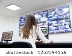 security control room operator...   Shutterstock . vector #1252594156