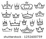 sketch crown. simple graffiti... | Shutterstock .eps vector #1252600759