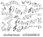 musical notes. music note swirl ... | Shutterstock .eps vector #1252600813