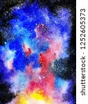 cosmic background. colorful... | Shutterstock . vector #1252605373