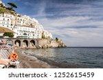 amalfi ocean sunbed | Shutterstock . vector #1252615459