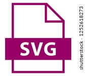 filename extension icon svg... | Shutterstock .eps vector #1252618273