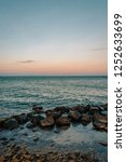 the atlantic ocean at sunset ... | Shutterstock . vector #1252633699