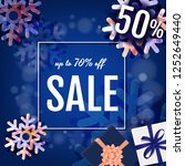 banner sale with gift box with... | Shutterstock .eps vector #1252649440