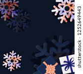 sale banner with snowflake with ... | Shutterstock .eps vector #1252649443